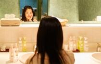 女性に嬉しい翌日12時チェックアウトなので、翌朝にシャワーを浴びて、お化粧をしてもバタバタしません♪