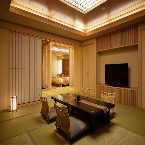 806 12.5TW露天風呂付富士山 本間とベッドルーム