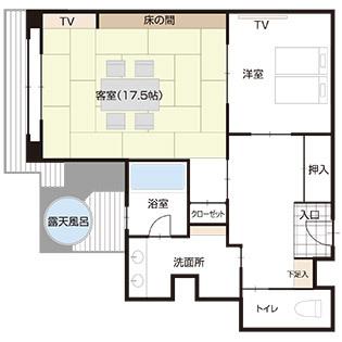 【温泉◆露天風呂付客室】富士山望む和洋室(102平米)