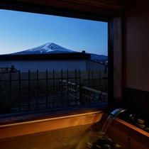 607展望風呂付富士山 夕景.jpg