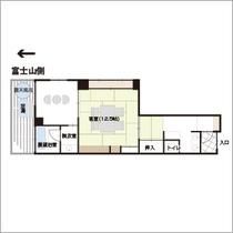 【露天風呂+展望風呂付】富士山を望む和室12.5畳