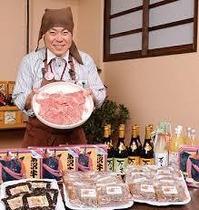 当館の夕食付プランはグルメ小僧万吉にて。老舗の肉屋さん直営のレストランです。徒歩3分♪