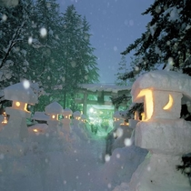 ☆毎年2月に行われる上杉雪灯篭まつり☆