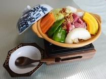 内子豚とひしを味噌の陶板焼き