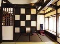 リニューアルされた古民家風客室