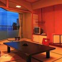 海一望のテラス付一般客室の一例