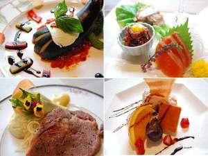 当館オリジナルのフルコースディナー(一例) 季節により料理変更ございます