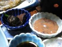 手作りのイカの塩辛はすごく評判!夕食の先付で必ず味わえます!