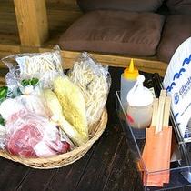バーベキューの食材準備が手間という方はコレ!「ジンギスカンセット/1人前1,000円」。
