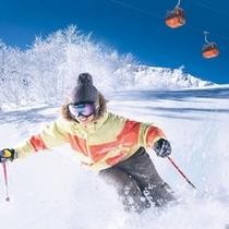 【札幌国際スキー場】ウィンケルビレッジから車で約35分