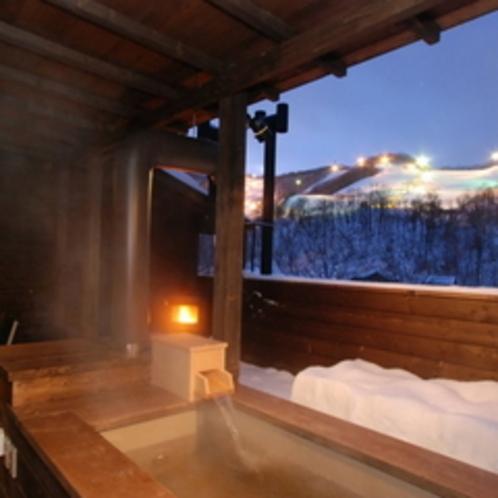 【露天風呂付コンドミニアム】藍(あい)≪5名定員用≫〜テラスで暖炉に火を灯しロマンチックに過ごす♪〜