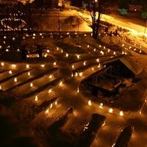 【小樽雪あかりの路】コンドミニアム棟のテラスからは、雪あかりの路会場が見下ろせます♪
