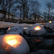 【小樽雪あかりの路】大切な人一緒にこの幻想的な光を眺めているだけで幸せな気分になりますよ♪