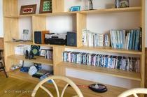 【フロント&ラウンジ】DVD、図書、ゲームなど お部屋への貸し出しもOK!