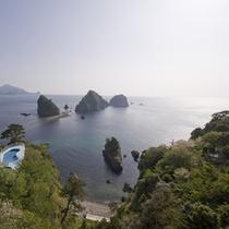 *『景観』屋上からの遊歩道&三四郎島