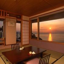 ■三四郎島・百選の夕陽を一望■12.5帖 角部屋和室