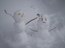 冬・雪だるま
