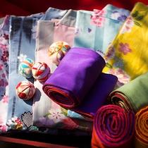 【色浴衣】種類も豊富!可愛い色浴衣を着て、旅行気分を更に盛り上げる