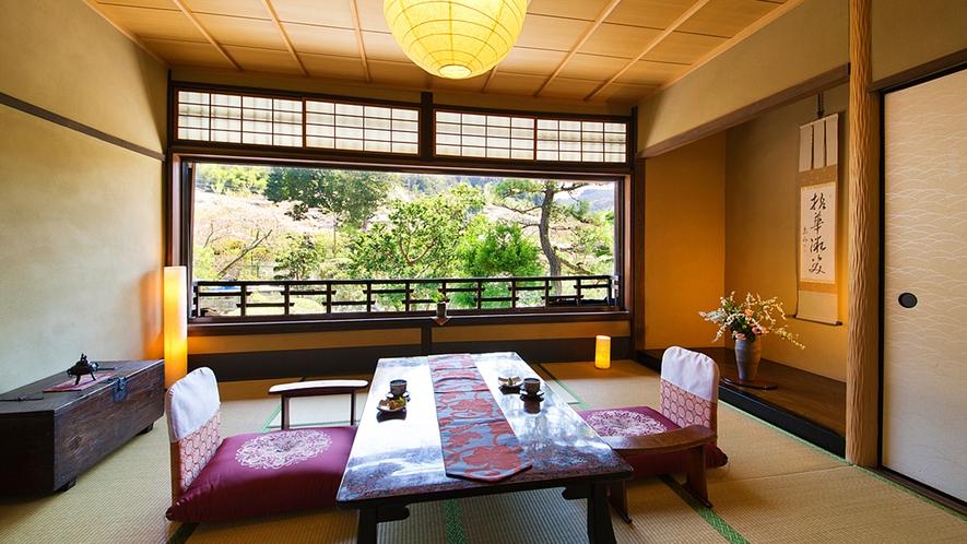 """【観月の間-KANGETSU-】""""優美で閑静"""" 自然の秀麗な姿を望める客室"""