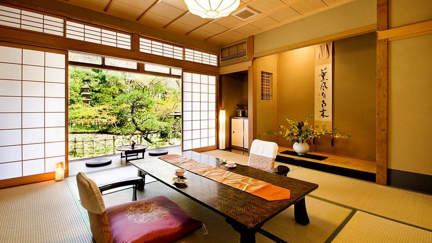 """【鶴の間-TSURU-】""""優美で閑静"""" 自然の秀麗な姿を望める客室"""