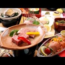 ■【夕食】秋田牛と八幡平ポーク