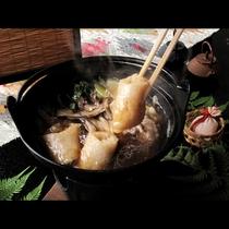■【夕食】きりたんぽ鍋