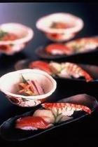 タラオ鍋に付く握り寿司一例