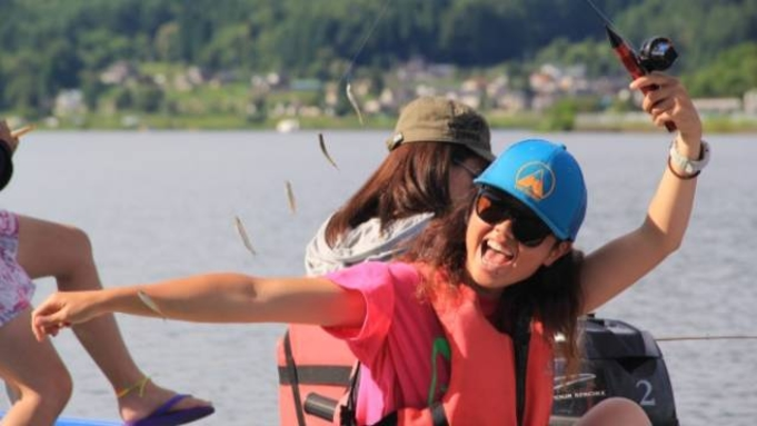 【木崎湖ワカサギ釣りプラン】手漕ぎボート&釣り具レンタル付☆仲間や家族と気軽に楽しもう<1泊2食付>
