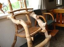 幼児用流木椅子