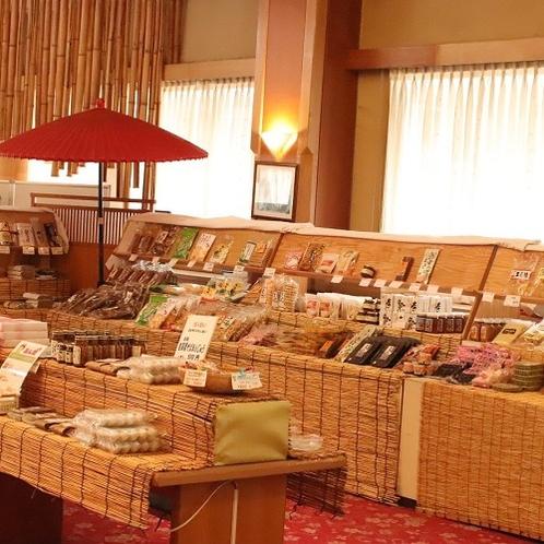 売店には信州のお土産を各種取り揃えております。