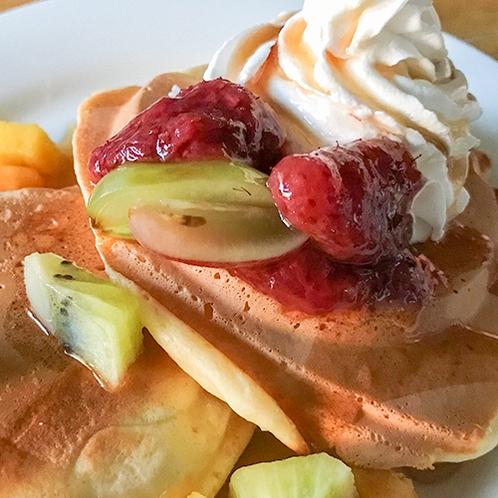 【朝食一例】ハワイアンスタイルのパンケーキ