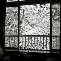 【10畳和室】一面の雪景色