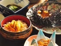 【ウニづくし御膳】ウニのお刺身やウニご飯など様々な味覚をお楽しみください。