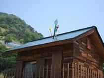 本の家の屋根