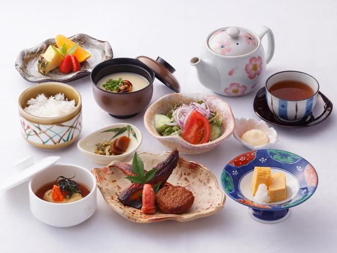 <ご朝食>和食の職人が作るこだわりの和定食。