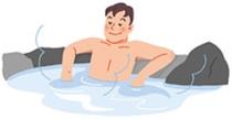 浴槽につかるときは体を慣らす半身浴
