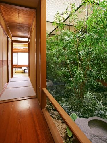 【華葉亭】緑のある風景に心が和む。日本の原風景やふるさとの懐かしさを感じる滞在をお愉しみください。