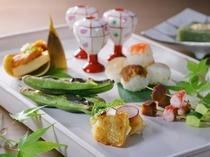 【夕食一例】古きを受け継ぎ、新しいものも積極的に取り入れる、「新・日本料理」をお召し上がりください。