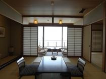 お部屋は全室三河湾を望むオーシャンビューです。