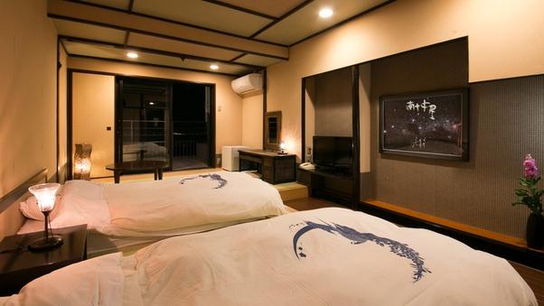モダンな雰囲気!夜景を楽しむ露天風呂付客室♪【月昇宮】◆禁煙