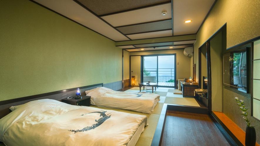 露天風呂付き客室【月昇宮】緑