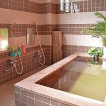 *【大浴場】男湯は光明石を使った人工温泉です。