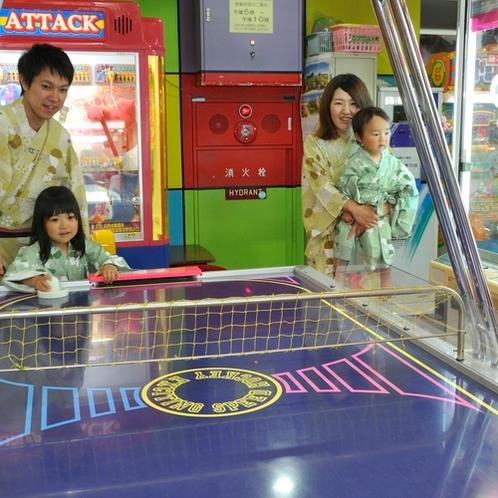 【ゲームセンター】温泉宿としては多数のゲームを設置しております。