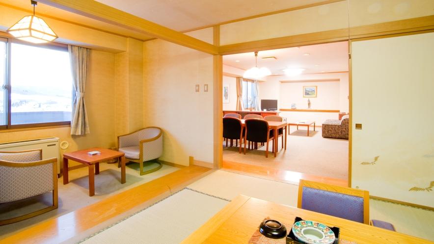 【聴水閣】聴水閣8階にある和洋特別室。