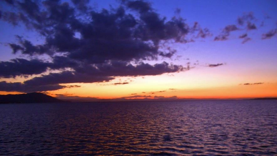 【道東観光】サロマ湖の夕暮れ