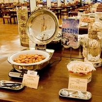 朝食バイキング 地元道東の食材を豊富に使ったメニューをお楽しみください。