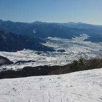 第3ペアリフト降り場からの眺望です。おススメのインスタ映えスポットです。