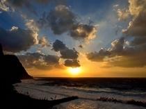 五箇地区、長尾田。太陽が沈む頃、綺麗な景色をご覧になれます♪
