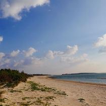 【イーフビーチ】当館目の前!静かな浜辺の早朝散歩がおすすめ♪