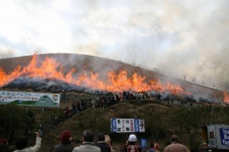 大室山山焼き